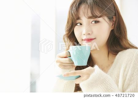 女性生活方式茶時間 48721720