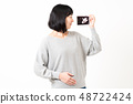 女性懷孕迴聲圖片 48722424