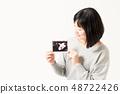 女性懷孕迴聲圖片 48722426
