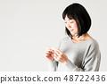 女性懷孕溫度計 48722436