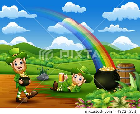 Happy St Patrick day leprechaun celebrate 48724531