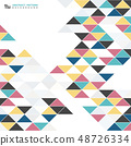 Abstract modern colorful triangle pattern design 48726334