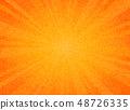 Abstract sun burst orange color circle pattern 48726335