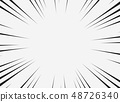 Abstract comic line of copy space with white 48726340