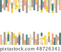 Abstract colorful dash stripe lines pattern of 48726341