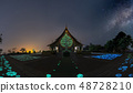 The Milky Way is above the Thai temples 48728210