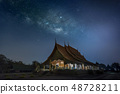 The Milky Way is above the Thai temples 48728211