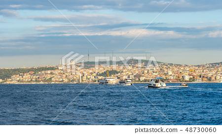 Istanbul city skyline in Istanbul city, Turkey 48730060