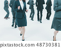 Japanese office workers 48730381