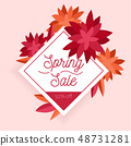 Spring sale. Design template with flowers 48731281