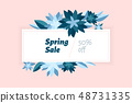 Spring sale. Design template with flowers 48731335