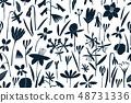 Spring flowers seamless vector pattern. 48731336