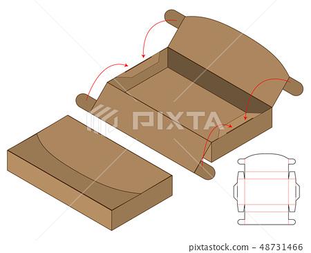 Box packaging die cut template design. 3d mock-up 48731466