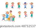 가족 여행 리액션 그린 48732537