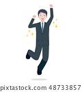 男性西裝跳辦公室工作人員 48733857