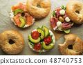 Bagel sandwich healthy 48740753
