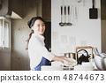 厨房餐厅女性 48744673