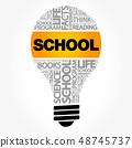 SCHOOL bulb word cloud collage 48745737