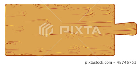 Meter  wood cutting board isolated on white vector 48746753