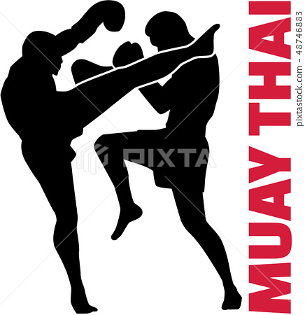 Muay thai word with fight 48746883