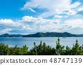 Blue sky and summer sea Setonaikai 48747139