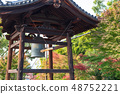 Temple bell time signal noon bell bronze temple Kyoto Buddhism 48752221
