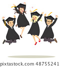 Students Jumping Happy 48755241