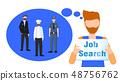 Bearded Man Hold Job Search Sign Dream Career 48756762
