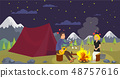 Vector Flat Guy with Girlfriend Go on Journey. 48757616