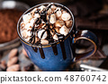 Cup of hot chocolate 48760742