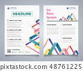Abstract colorful stripe line overlap brochure 48761225