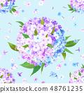 Flox flower seamless pattern 48761235