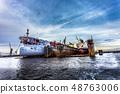 Two ships in dry repair dock 48763006