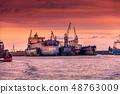 Two ships in dry repair dock 48763009