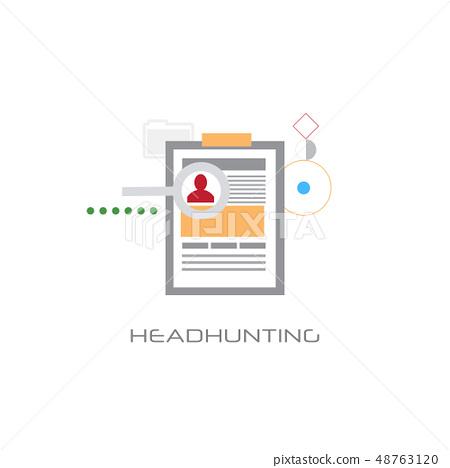 Headhunting Curriculum Vitae Business Candidate Stock