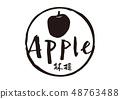 蘋果刷刻字 48763488
