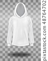 White hooded sweatshirt mockup template. 48764702