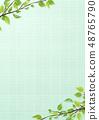 신록 - 잎 - 새잎 - 타일 - 모자이크 타일 48765790