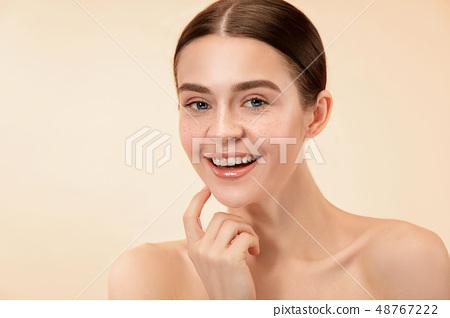 Beautiful female face. Perfect skin 48767222