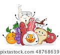 Mascot Breakfast Illustration 48768639