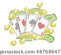 Money Card Gamble Illustration 48768647