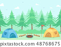 Camping Tents Outdoors Illustration 48768675
