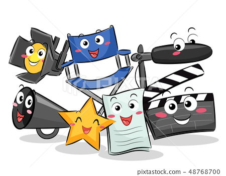 Mascot Theater Object Illustration 48768700