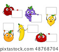 Mascot Fruits Board Illustration 48768704