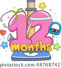 Check Up Twelve Months Illustration 48768742