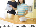 Smart speaker (kitchen mother-daughter) 48768897