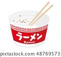 Cup ramen ramen cup noodle illustration 48769573