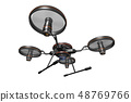Drone (with camera · transparent material) 48769766
