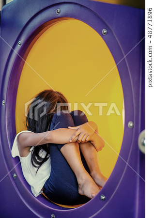 child feeling abused in playground 48771896