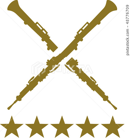 Oboe crossed with five golden stars 48776709